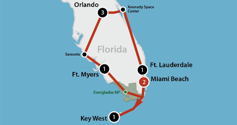 9 DAAGSE AUTORONDREIS FLORIDA'S BEST