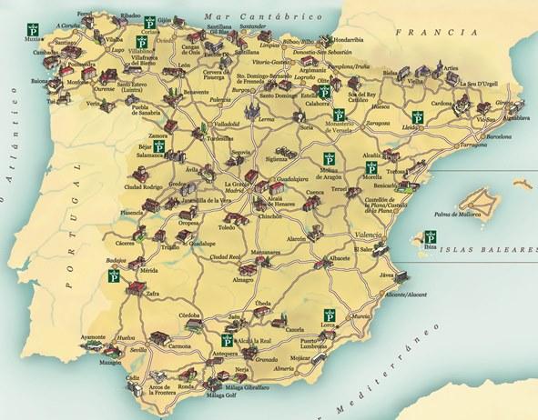 Mapa_Paradores_2009