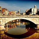 Retro-Style-Urban-Landscape-Girona-Spain